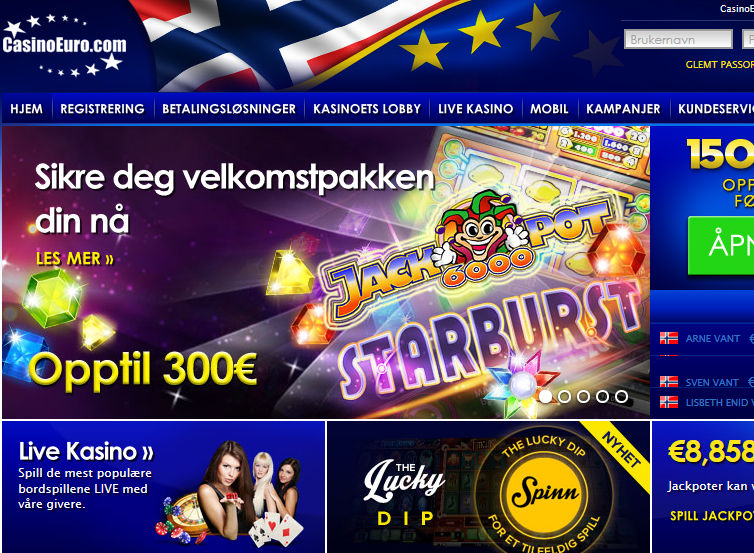 casinoeuro bonuskode